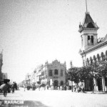 Bundar-Road-(now-M.-A.-Jinnah-Rd.)-The-Max-Denso-Hall-(completed-1886)-can-be-seen-in-these-pictu