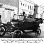 Elphinstone-St.-in-1914,-Picture-of-a-British-family's-first-car-in-Karachi