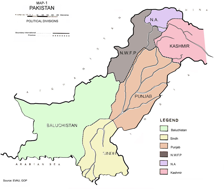 Pakistan Maps from Various Studies